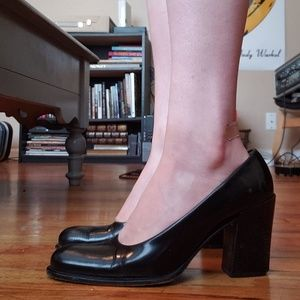 Beautiful Vintage Prada Leather Chunky Heel 7.5